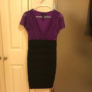 Purple/Black Semi Formal Dress - Enfocus Studio